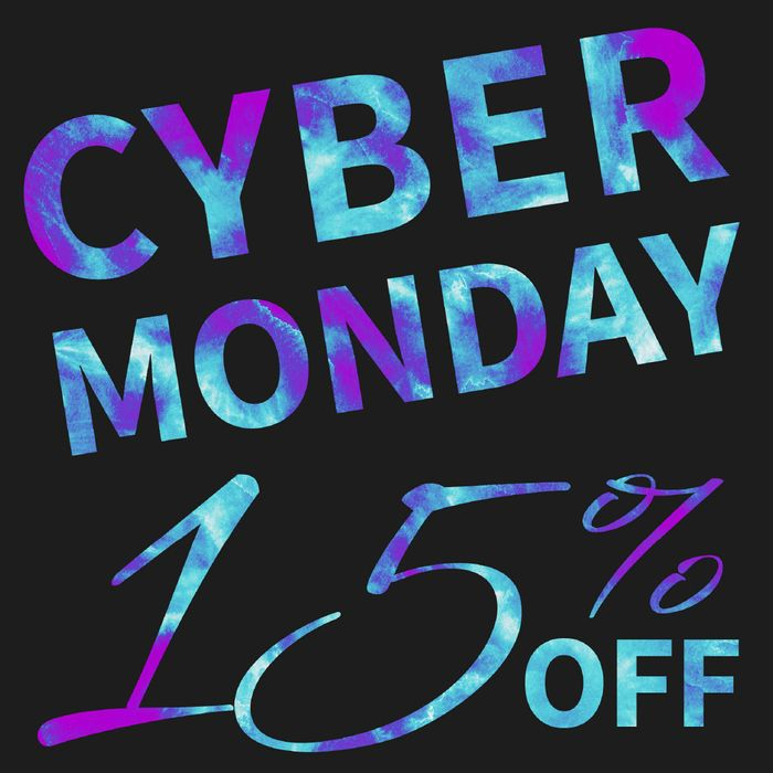 Cyber Monday 15% Off