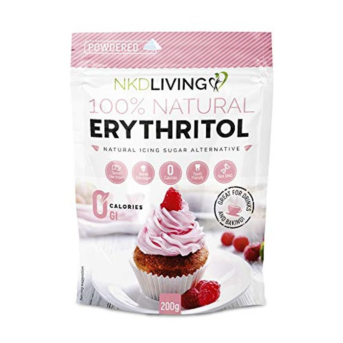 Powdered Erythritol by NKD Living - Zero Calorie Icing Sugar - Only £4.99!