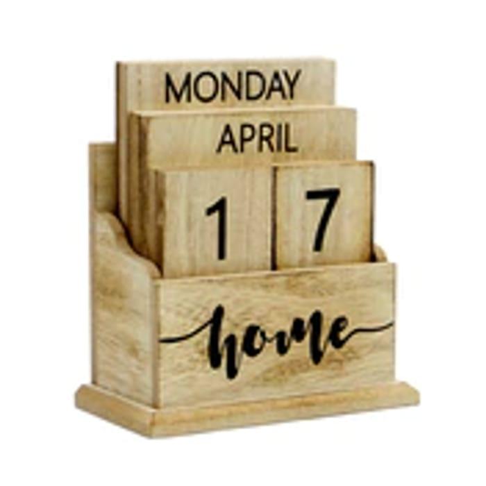 Wooden Vintage Perpetual Calendar