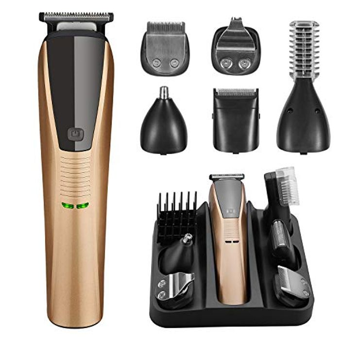 Save 70%! Professional 6 in 1 Grooming Kit Cordless Hair Clippers