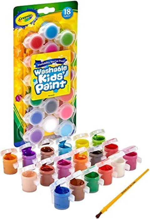 Crayola Washable Kids Paint, Pack of 18