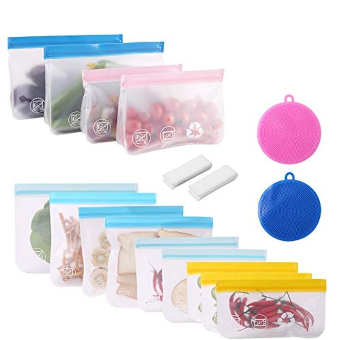 Reusable Food Storage Bags - 13 Pcs - Only £4.80!