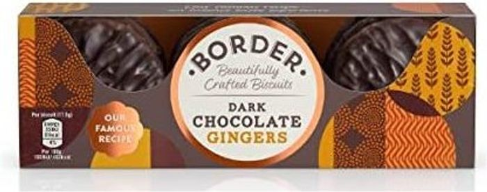 Border Biscuits Dark Chocolate Gingers, 150g