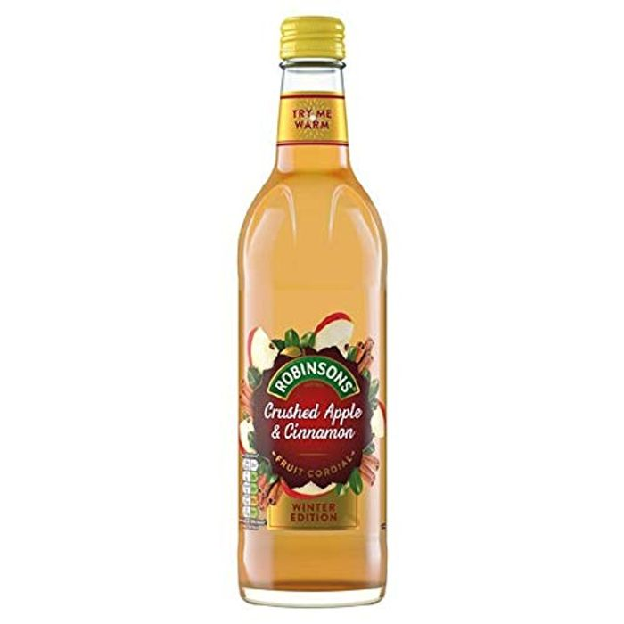 8 x 500ml Robinsons Fruit Cordial, Crushed Apple and Cinnamon