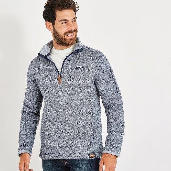 Beaufort 1/4 Zip Soft Knit Fleece Maritime Blue