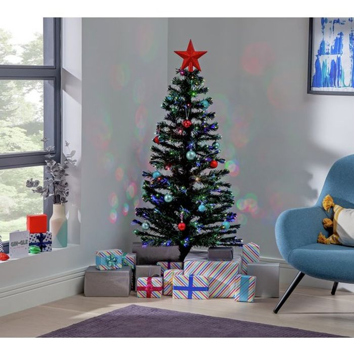 Argos Home Pre-Lit Coloured Lights Christmas Tree - 5ft £33.75 + Free Cllection
