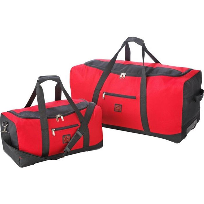 Go Explore Extra Large Red Wheeled Holdall and Holdall Set **Now £13.20**