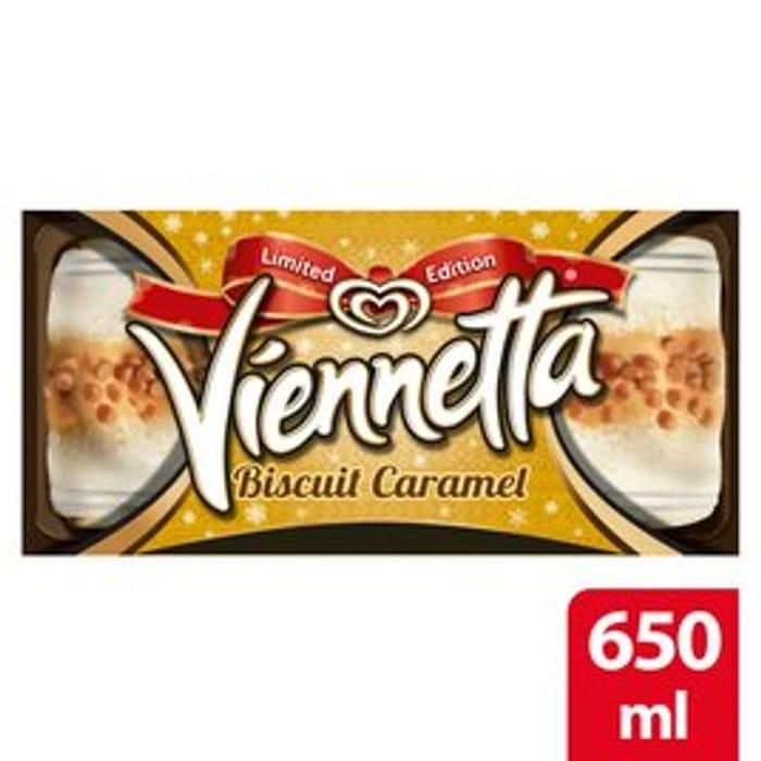 Viennetta Biscuit Caramel Ice Cream Dessert 650Ml + Other Flavours - Only £1!