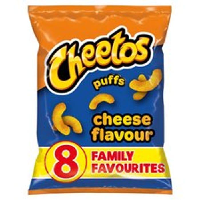 Cheetos Cheese Puffs X8 Packs 13g