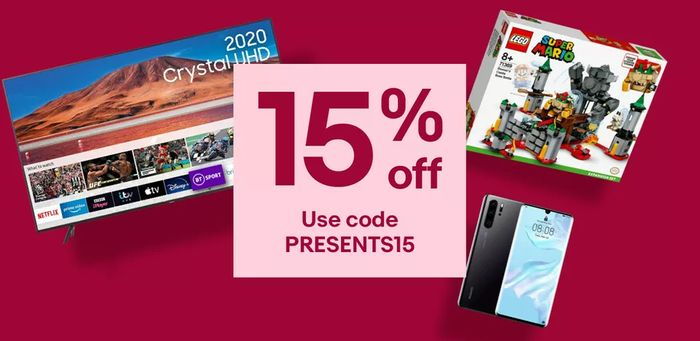 Special Offer - ebay - 15% Off Christmas Gifts With Code - Can Use 3 Times!