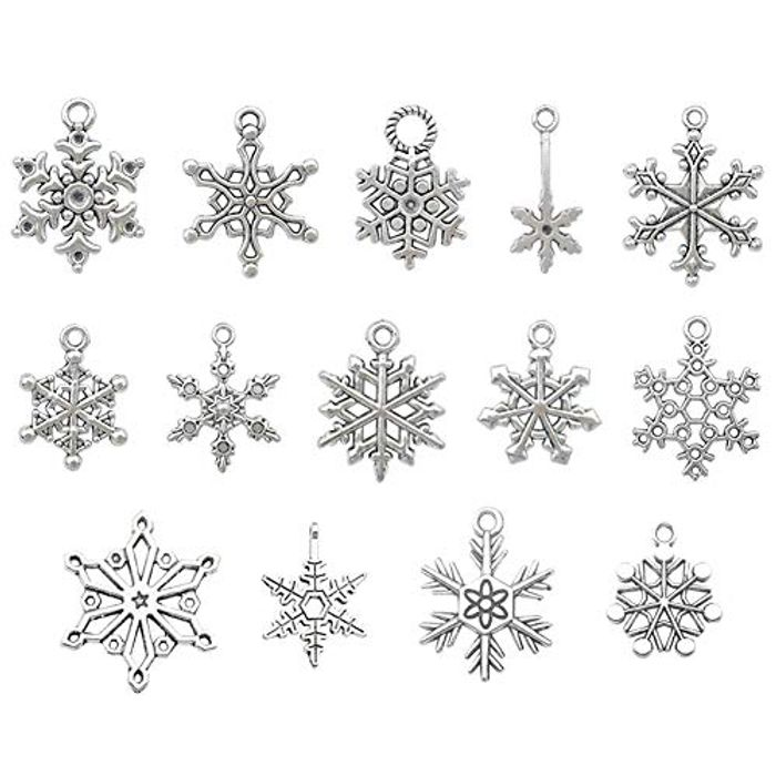 70pcs Snowflake Charms - Only £2.99!