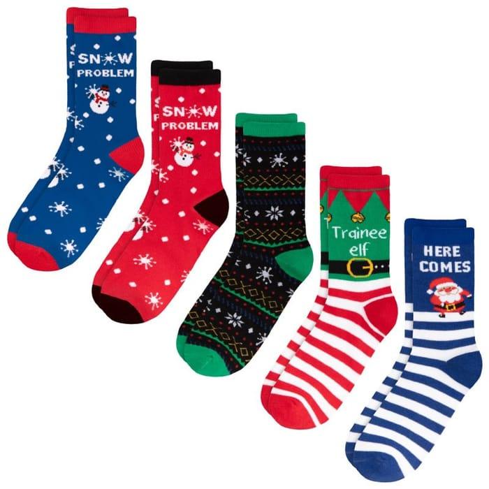Kids Christmas Socks 6pk - Snow Problem
