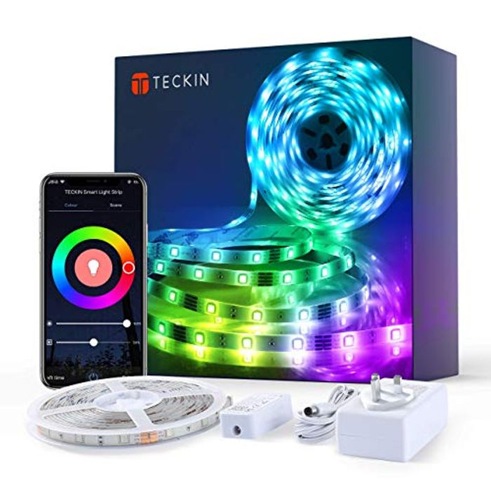 Smart WiFi Colour Changing Music Sync Light Strip - 5m