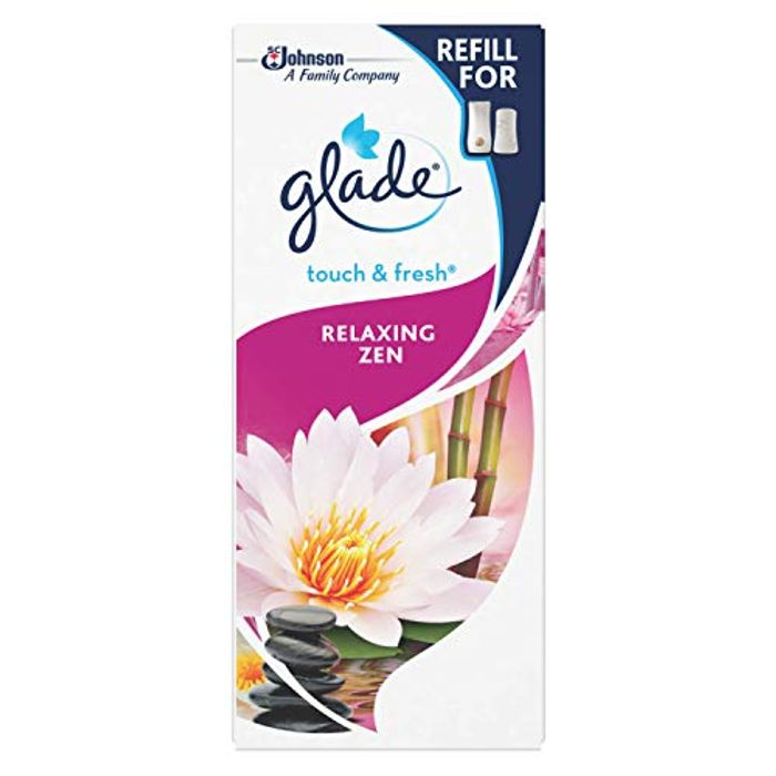 Glade Touch and Fresh Air Freshener Refill, Relaxing Zen Pack of 12 - Only £2.8!