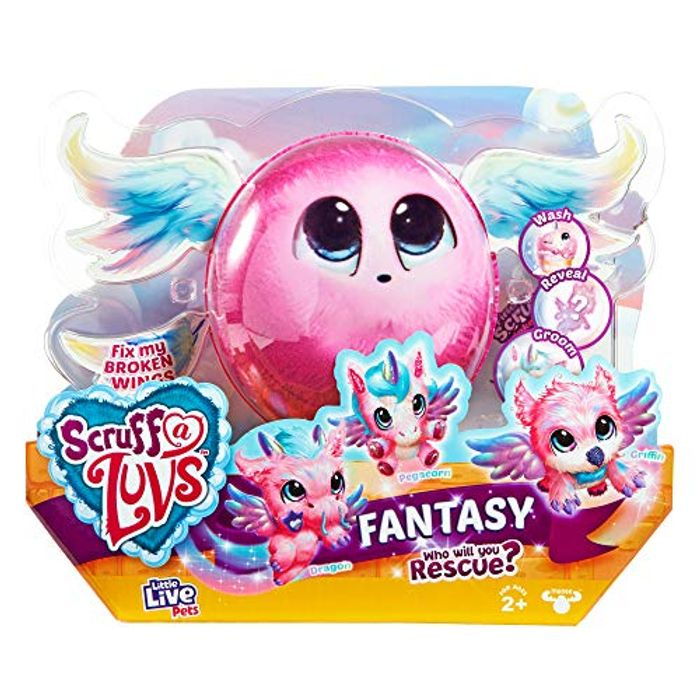 Little Live Scruff a Luvs Fantasy Surprise Reveal Glitter Plush Cuddly Toy