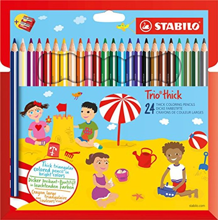 BEST EVER PRICE Colouring Pencil - STABILO Trio Thick Wallet of 24