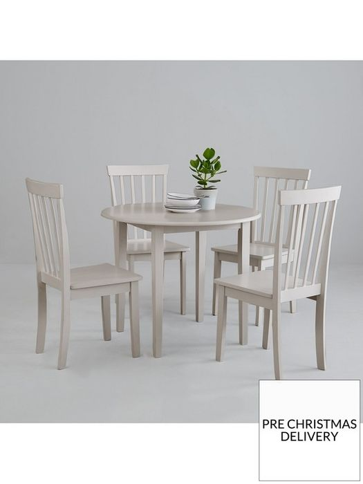 *SAVE £40* New Sophia 73.8 Cm round Dining Table + 4 Chairs