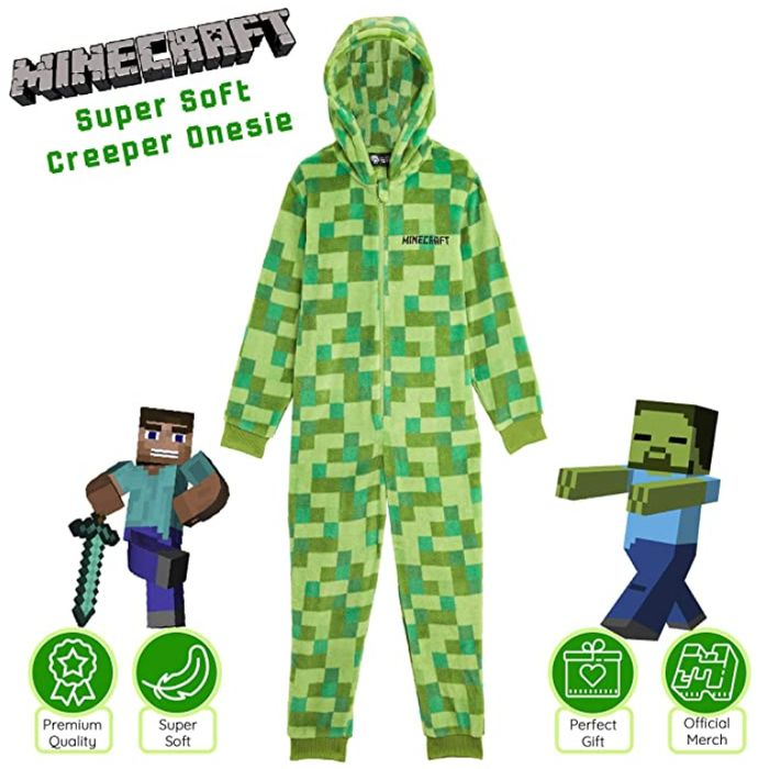 MINECRAFT Onesie for Boys, Kids Pyjamas All in One *4.7 STARS*
