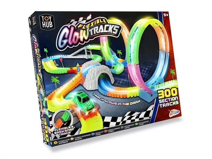 Grafix Flexible Glow Tracks 300 Piece Set