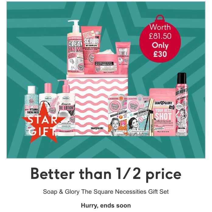 Better than 1/2 Price on Soap and Glory the Square Necessities Gift Set