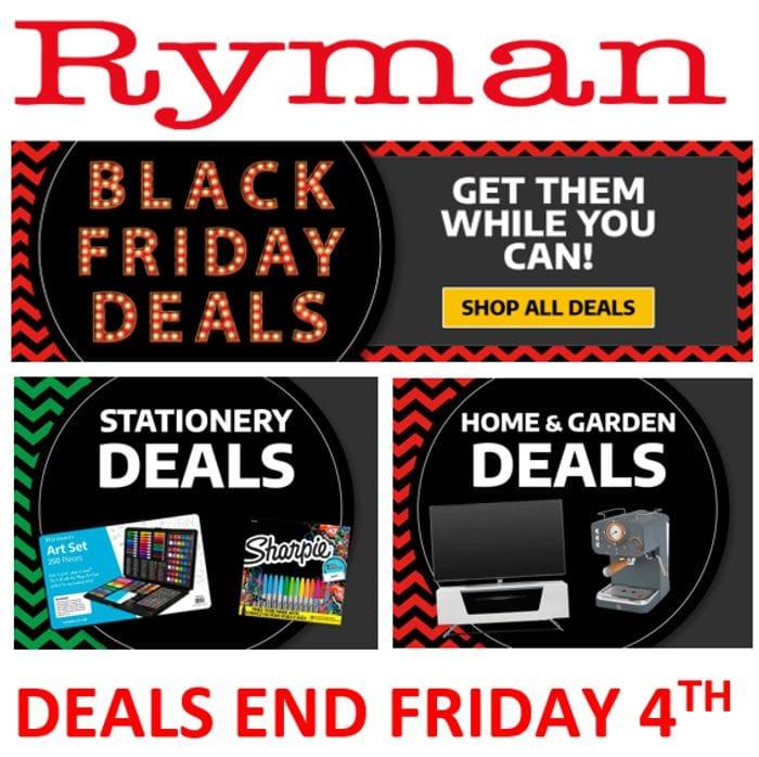Last Chance! Ryman Black Friday Deals - Ends Friday 4th December!