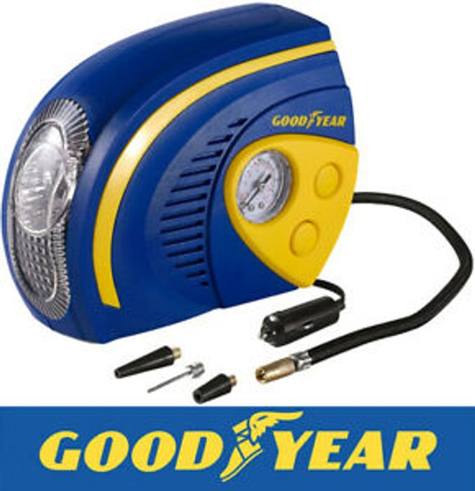 Goodyear 2 in 1 Tyre Air Compressor Inflator with LED Light - Only £13.59!