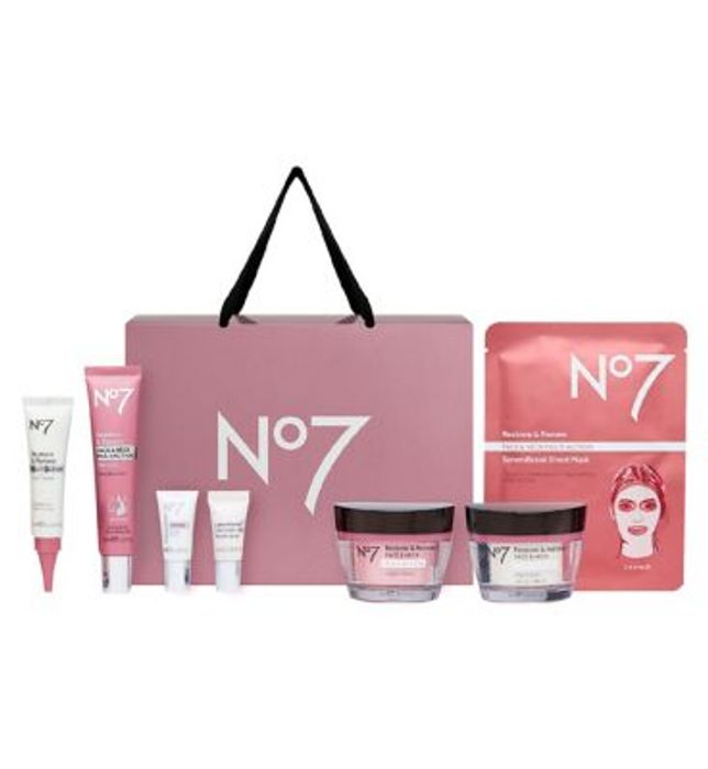 No7 Restore & Renew FACE & NECK MULTI ACTION Collection Gift Set