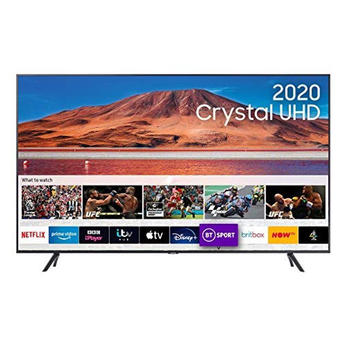 "Samsung Galaxy 2020 50"" TU7110 Crystal UHD 4K HDR Smart TV, Black £399 at Amazon"