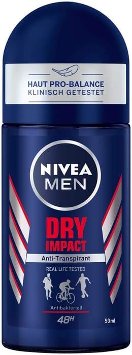 Nivea Men Dry Impact Roll-on Deodorant 50 Ml