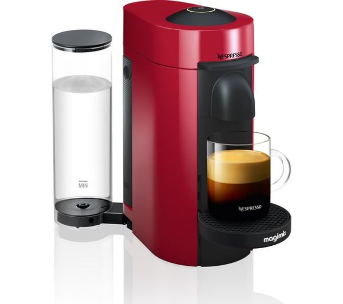 *SAVE over £100* NESPRESSO by Magimix Vertuo plus Coffee Machine - Piano Red