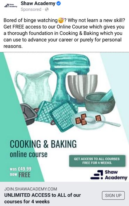 Cooking and Baking Online Course Free for 4 Weeks