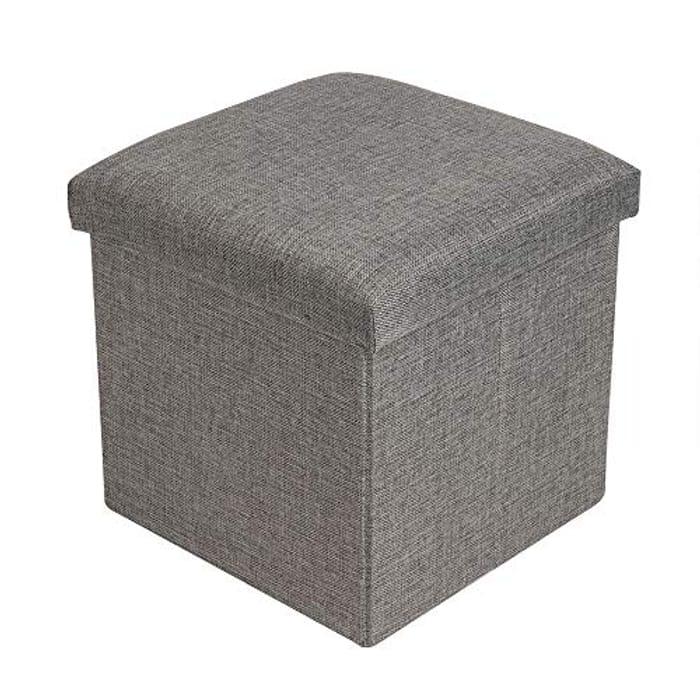 CHEAP! Shoze Single Folding Storage Pouffe Cube Foot Stool Seat Ottoman
