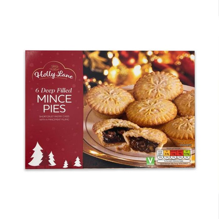 Holly Lane Deep Filled Mince Pies 6pk