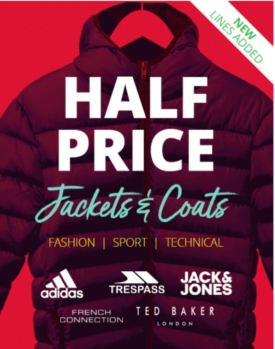 CHEAP! Half Price Or Less Jackets Inc Ted Baker, Adidas, FCUK & Trespass