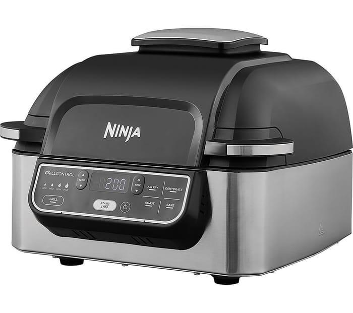 NINJA Foodi AG301UK Health Grill & Air Fryer - Black & Brushed Steel