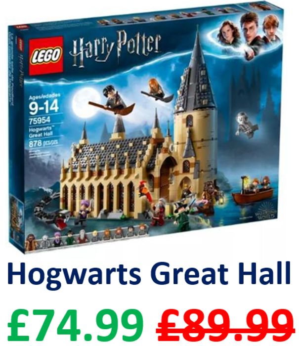 Cheapest Price! LEGO HARRY POTTER: Hogwarts Great Hall