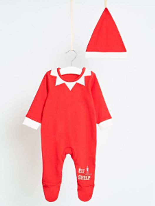 The Elf on the Shelf Family Christmas Sleepsuit and Hat Set