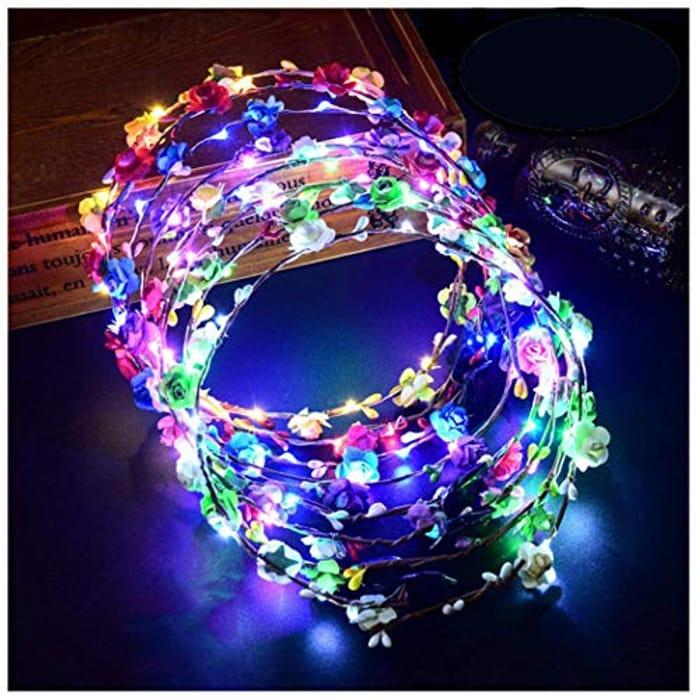 Half Price! 12Pcs Light up LED Flower Headbands
