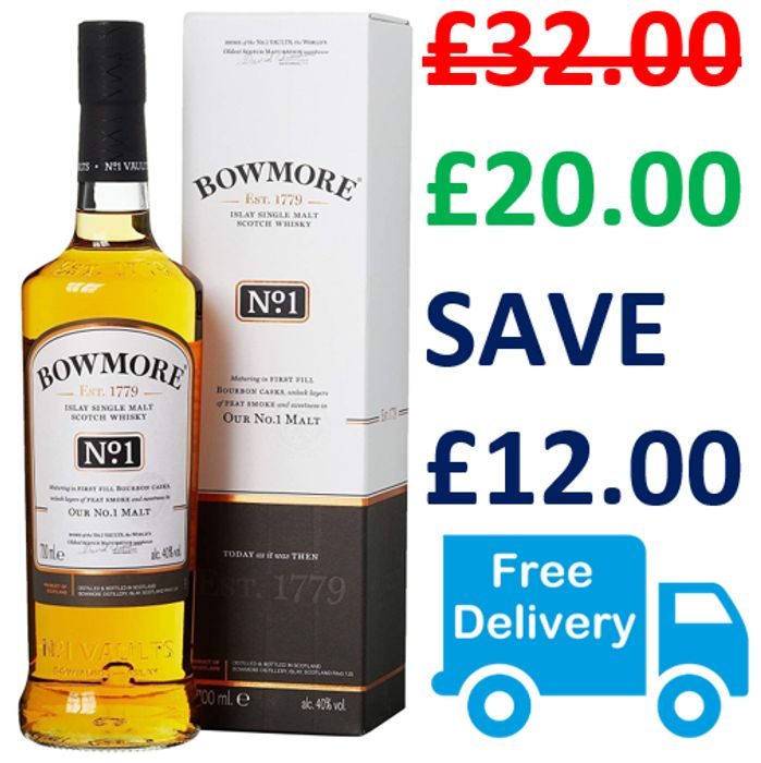 Bowmore No. 1 Single Malt - ONLY £20 WITH FREE DELIVERY!