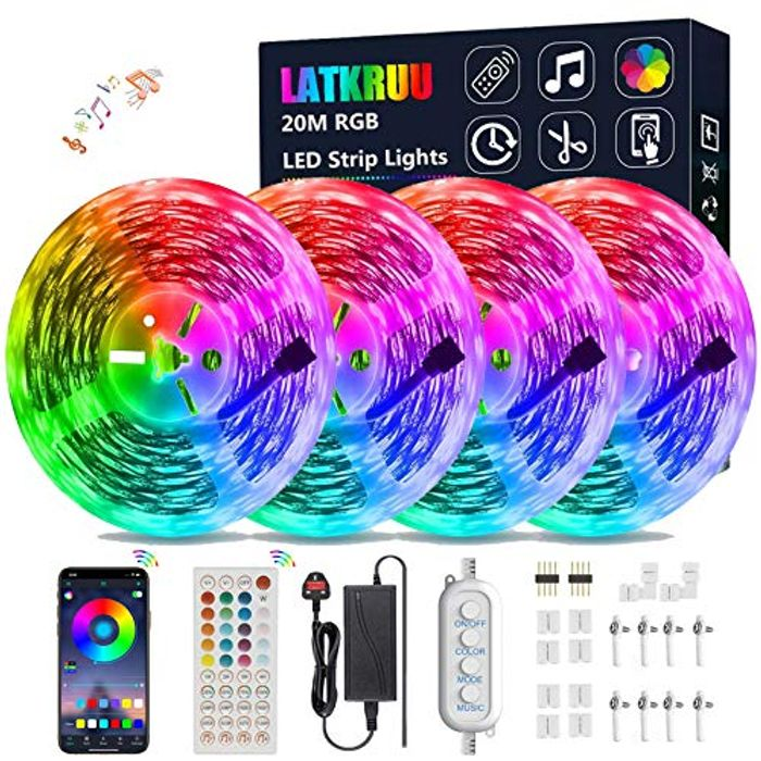 Half Price! LED Strip Lights with Remote- 20 Meters