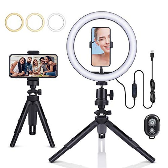 """Price Drop! 10"""" LED Ring Light with Tripod Stand"""