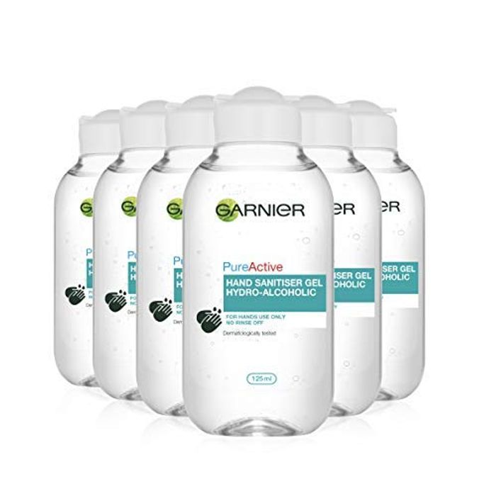 BEST EVER PRICE Garnier Hand Sanitiser Gel 70 % Alcohol Purifying 125 Ml 6 Pack