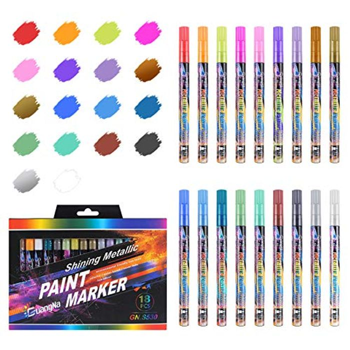 Prime Only Deal! 18 Colors Metallic Marker Pens