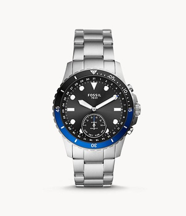 Hybrid Smartwatch FB-01 Stainless Steel - Only £51!