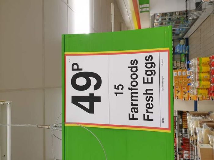 15 Fresh Eggs 49p Farmfoods Preston