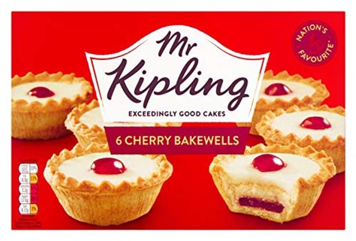 Mr Kipling Cherry Bakewells, 6 Each