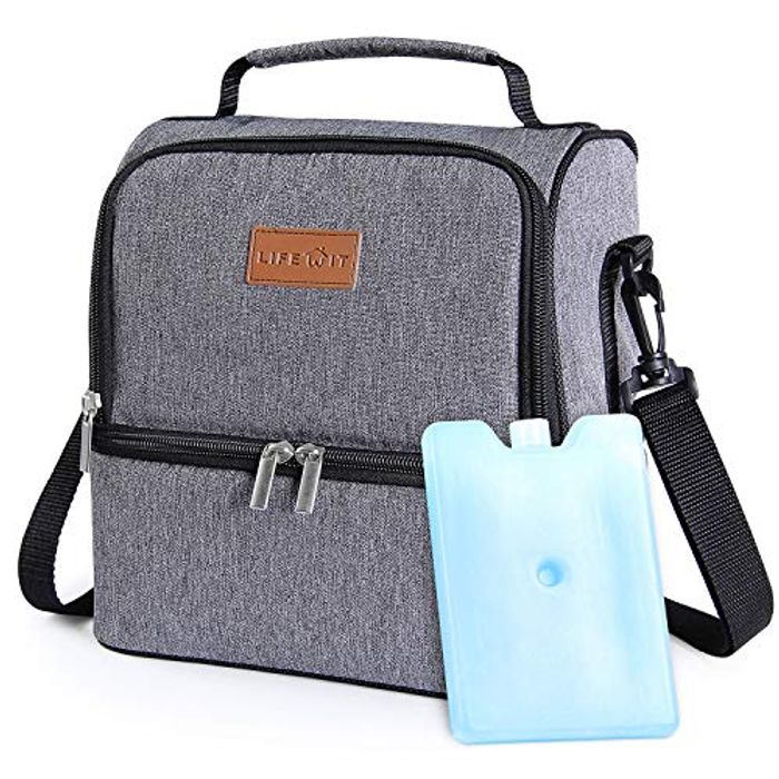 Lifewit 7L Dual Compartment Insulated Lunch Bag