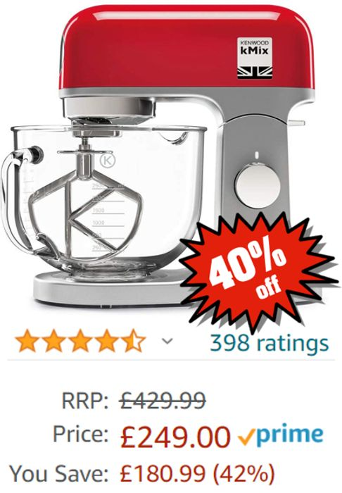 PRICE DROP! Kenwood KMix Stand Mixer - save £180! (3 colours)