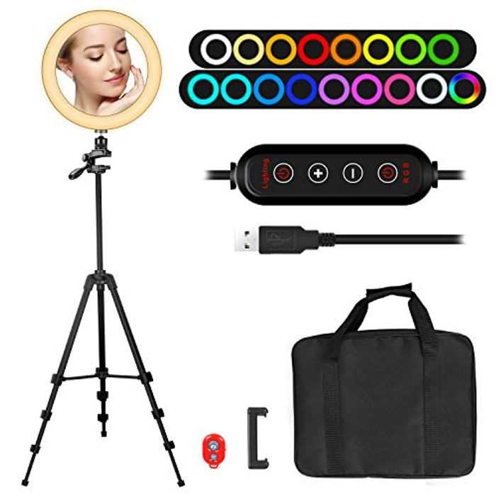 """Save 60%- 10"""" Ring Light with 55"""" Extendable Tripod Stand"""