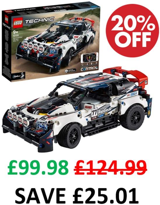 LEGO Technic CONTROL+ App-Controlled Top Gear Rally Car (42109)